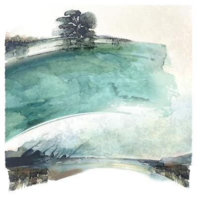 La vague I 50x50 cm I © Réf: 32 I Tirages limités à 20 exemplaires.