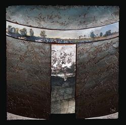 Cassel 1 - Collage - acrylique - technique mixte I 50x50 cm I © Réf: 07