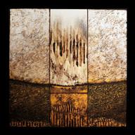 Rue des petites orgues 2 - Collage - acrylique - technique mixte I 40x40 cm I © Réf: 83 I