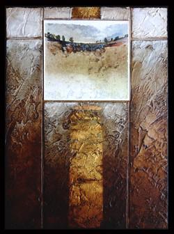 Collage - acrylique - technique mixte I 18x24 cm I © Réf: 65 I