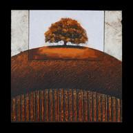 Un automne 1 - Collage - acrylique - technique mixte I 30x30 cm I © Réf: 35 I