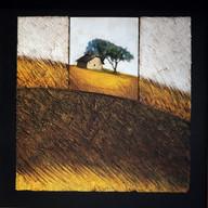 Vent d'automne 1 - Collage - acrylique - technique mixte I 30x30 cm I © Réf: 93 I