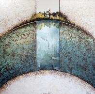 Lieu-dit 2 - Collage - acrylique - technique mixte I 50x50 cm I © Réf: 85A
