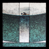 Breizh 2 - Collage - acrylique - technique mixte I 40x40 cm I © Réf: 26A I