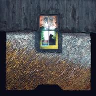 Sous le toit 1 - Collage - acrylique - technique mixte I 40x40 cm I © Réf: 78