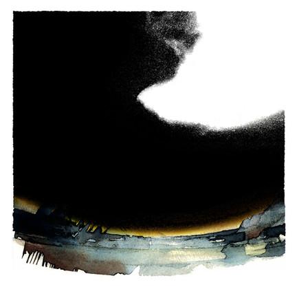Orage sur Saône I 50x50 cm I © Réf: 23 I Tirages limités à 20 exemplaires.
