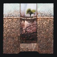 Seule 3 - Collage - acrylique - technique mixte I 40x40 cm I © Réf: 84 I
