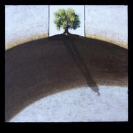 L'Olivier 3 - Collage - acrylique - technique mixte I 60x60 cm I © Réf: 11 I