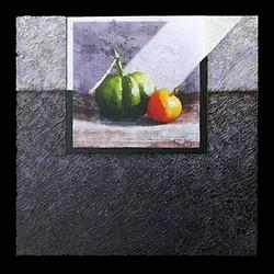 Nature vivante 1 - Collage - acrylique - technique mixte I 40x40 cm I © Réf: 74 I
