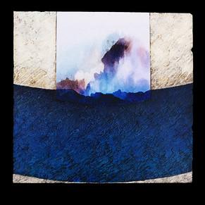 Turbulence 1 - Collage - acrylique - technique mixte I 40x40 cm I © Réf: 82 I
