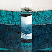 Terre et Eau 1 - Collage - acrylique - technique mixte I 40x40 cm I © Réf: 97