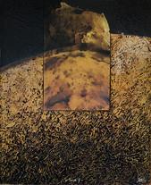 Terre 2 - Collage - acrylique - technique mixte I 40x60 cm I © Réf: 58
