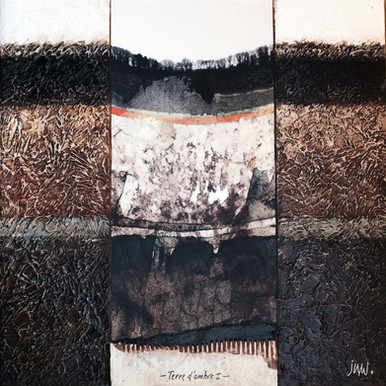 Terre d'ombre 1 - Collage - acrylique - technique mixte I 40x40 cm I © Réf: 80