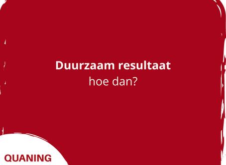 Hoe bereik je met Quaning duurzaam resultaat?