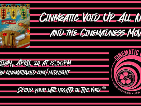 Bring your quarters for this weeks Cinemadness Movie!