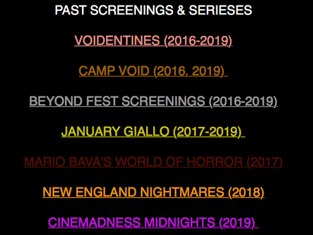 A handy dandy guide to our various series screenings