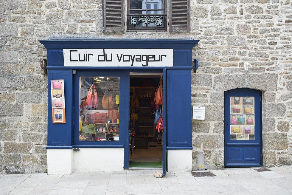 Tourist shop at Concarneau.