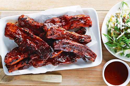 CW BBQ Spare Ribs with Chinese marinade - 1/2 kg, approx 3 ribs