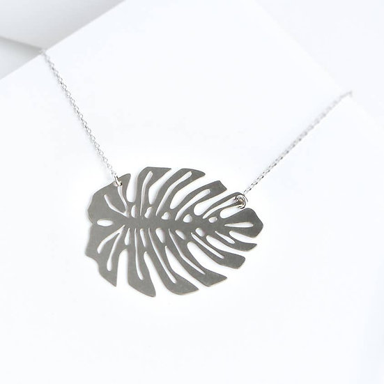 Monstera Leaf Necklace - A Tea Leaf Jewelry