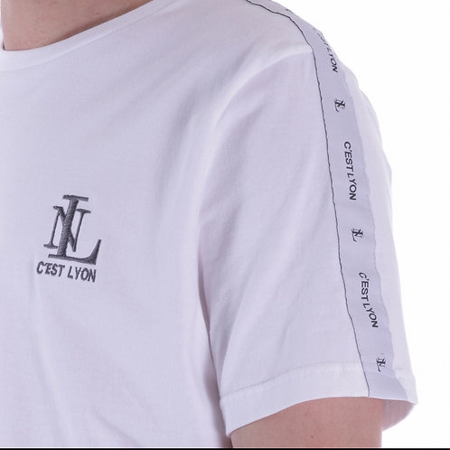 T Shirt White With Grey Tape