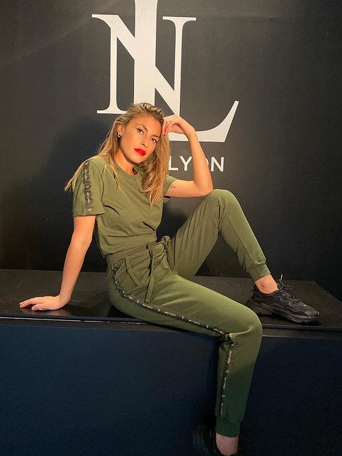 Cest Lyon Army Green T-Shirt