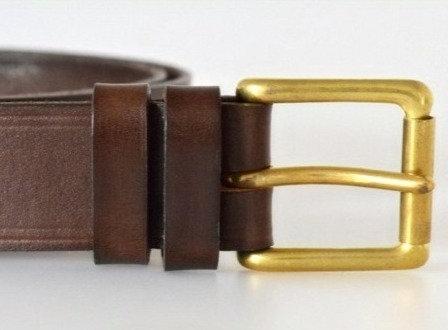 Italian Vegetable Tanned Hide Belt - 35mm Solid Brass Buckle