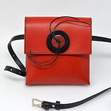 Red pocket bag, large red button.JPG