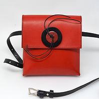 Red pocket bag, large red button.JPG