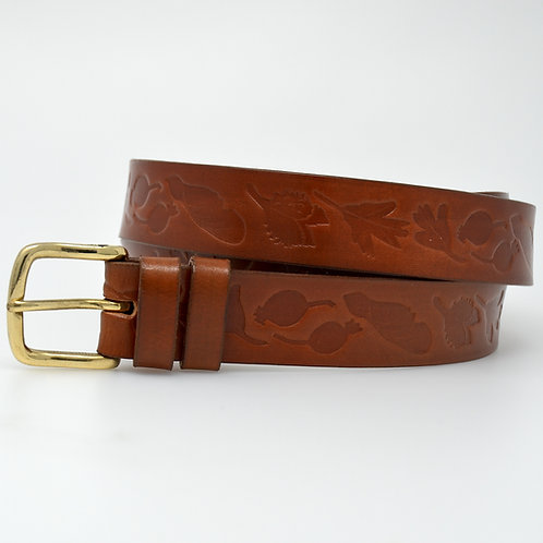 Bonchurch Hedgerow Leather Belt  - 30mm Solid Brass(BBA)