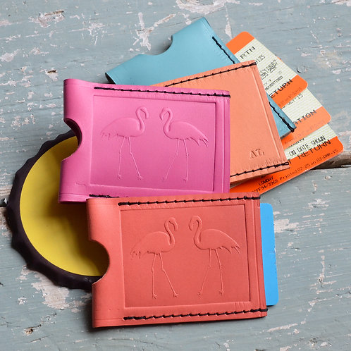 Travel Card Wallet - Flamingo