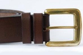 Italian Vegetable Tanned Hide Belt - 38mm Solid Brass Buckle