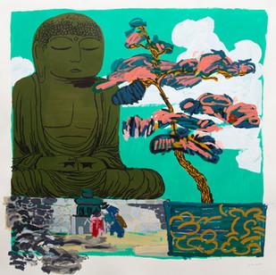The Buddhist statue, after 'The Buddhist statue at Kamakura in spring time'