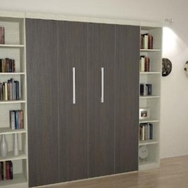 modern murphy bed with side cabinets