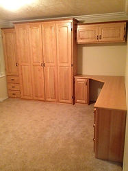 Murphy Bed Alder with built in desk