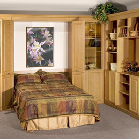 murphy bed with side cabinets and built ins