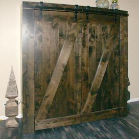 murphy bed with barn doors