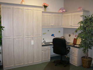 murphy bed with built in office