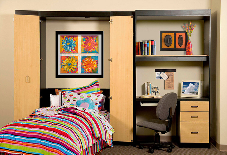 murphy bed with built in desk