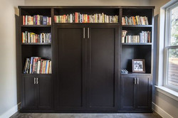 black painted murphy with shelving