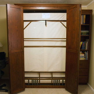 murphy bed with side cabinet