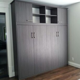 murphy bed with top storage