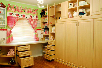 horizontal murphy bed with built in cabinets