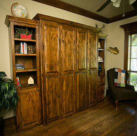 murphy bed with side cabinets