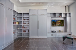 modern murphy bed with built ins