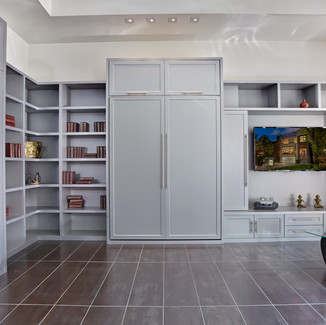 modern murphy bed and built ins