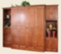 murphy bed with two side cabinets