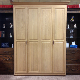 queen murphy bed with side cabinets