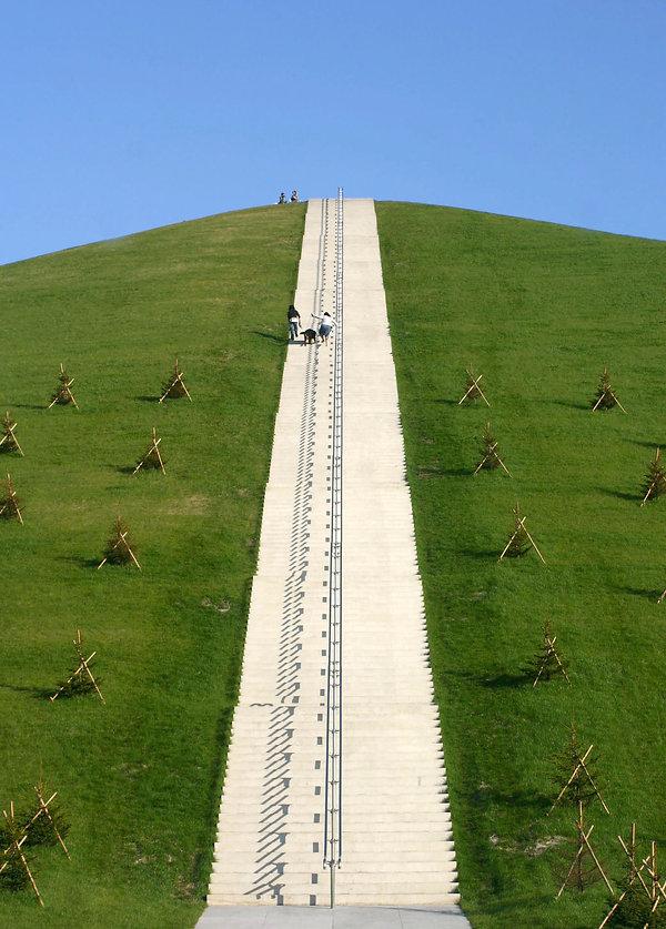 山へ登る階段