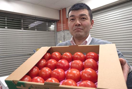 大橋さんとトマト