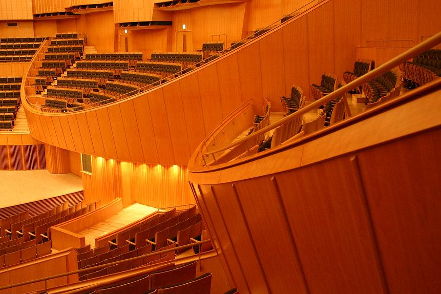 キタラ大ホールの観客席の意匠